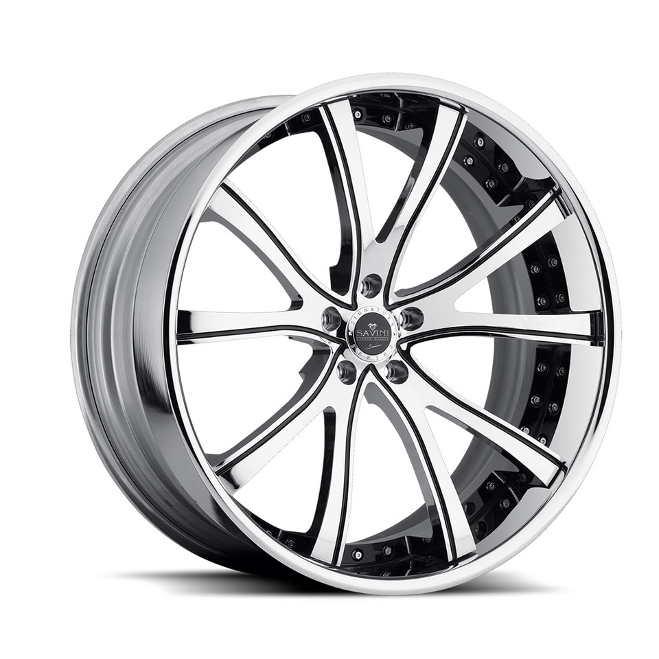 Savini Forged SV46c Chrome XC Wheels