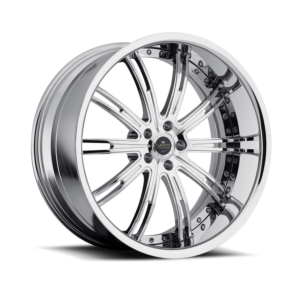 Savini Forged SV47s Chrome XLT Wheels