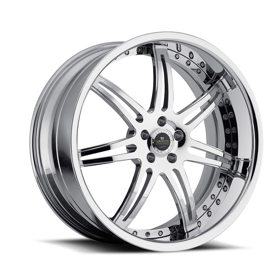 Savini Forged SV48s Chrome XLT Wheels