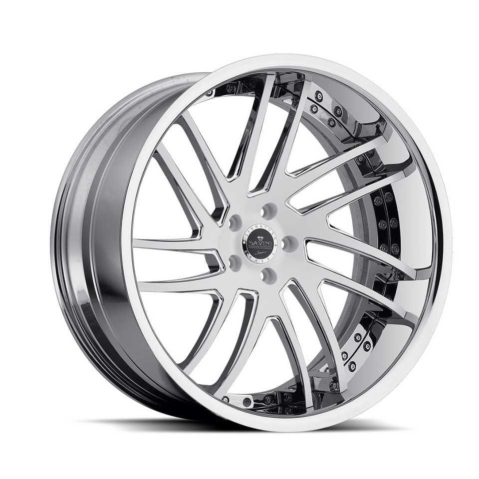Savini Forged SV49c White Chrome XC Wheels