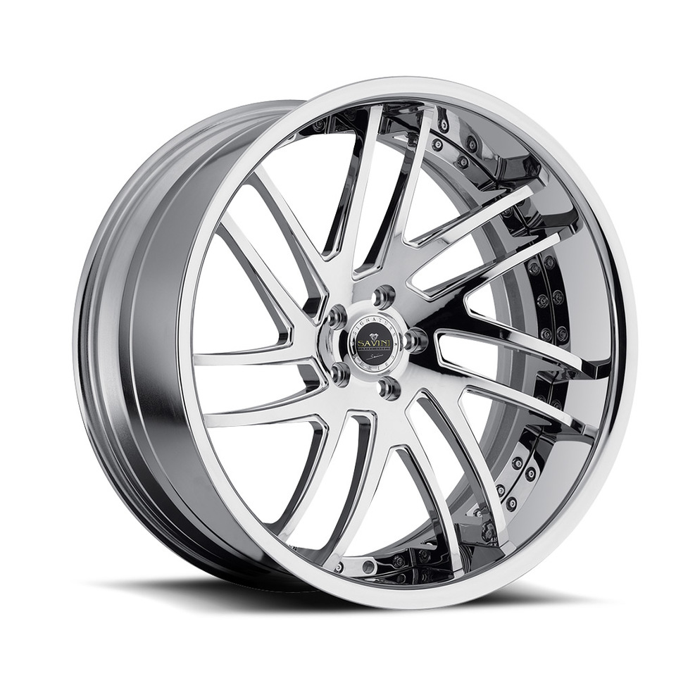 Savini Forged SV49c Chrome XC Wheels