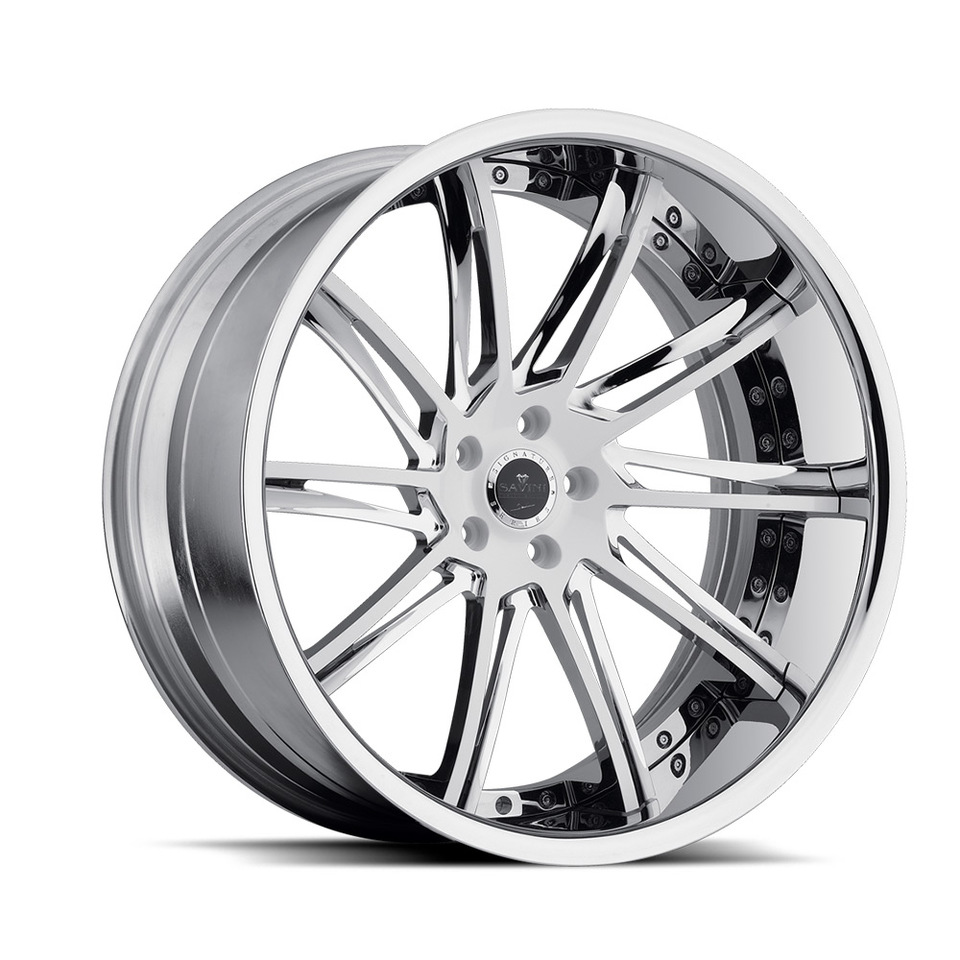 Savini Forged SV50c White Chrome XC Wheels