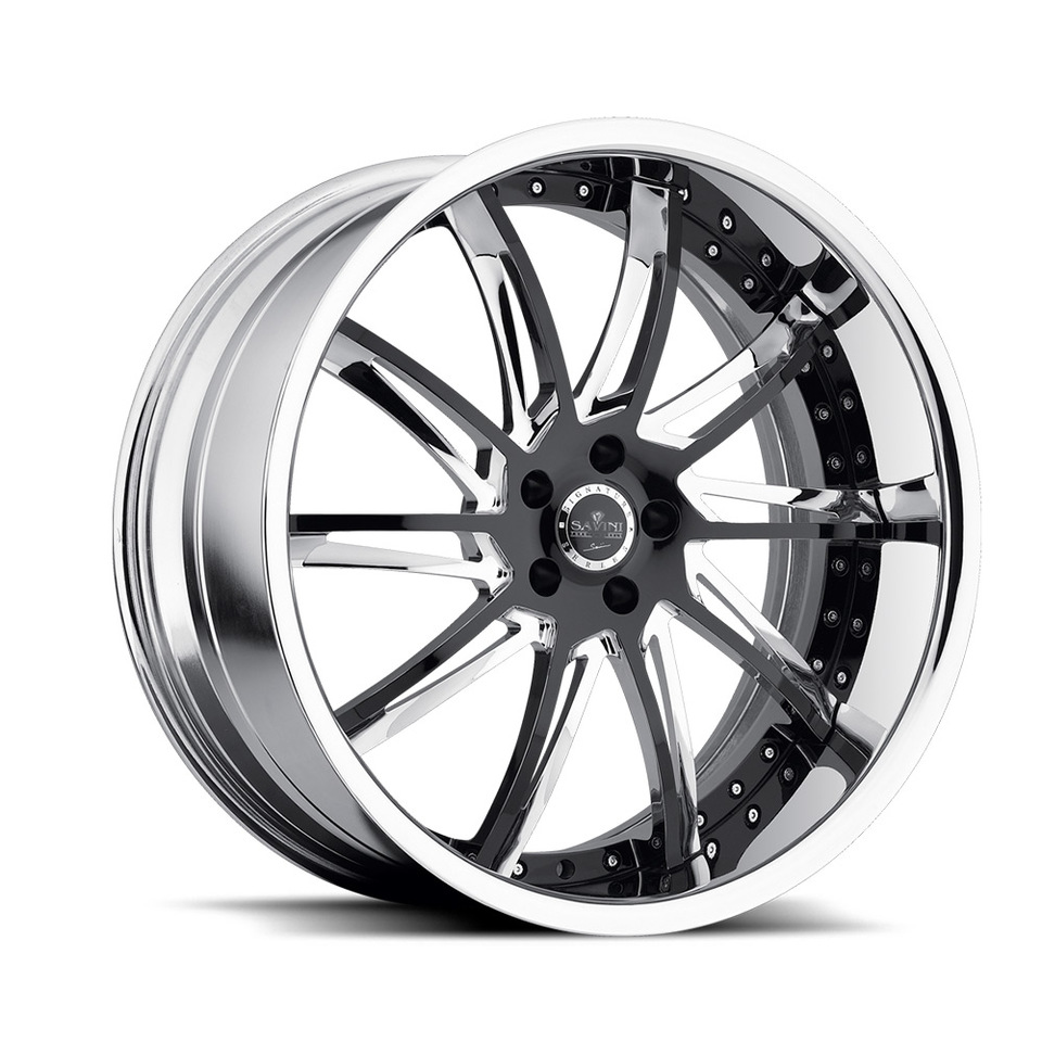 Savini Forged SV50c Black and Chrome XLT Wheels