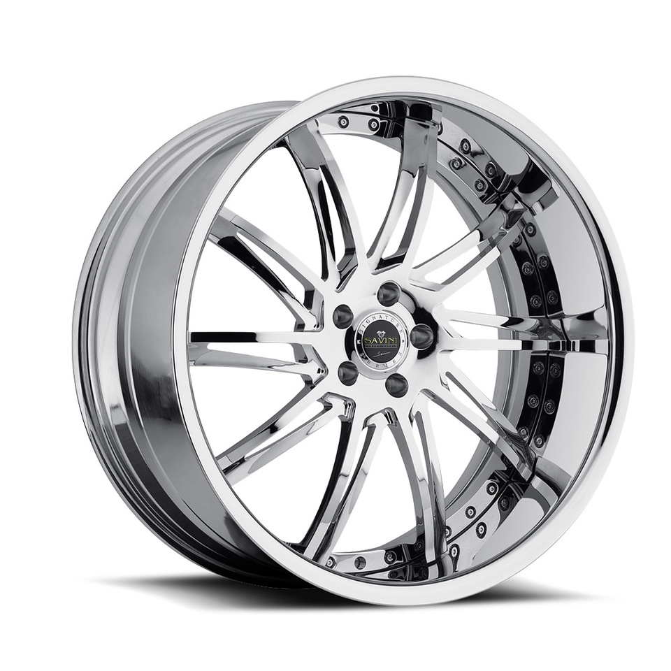 Savini Forged SV50c Chrome XLT Wheels