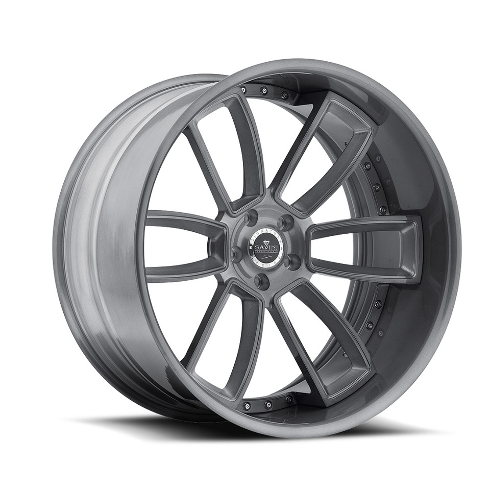 Savini Forged SV52c Grey Brushed XC Wheels