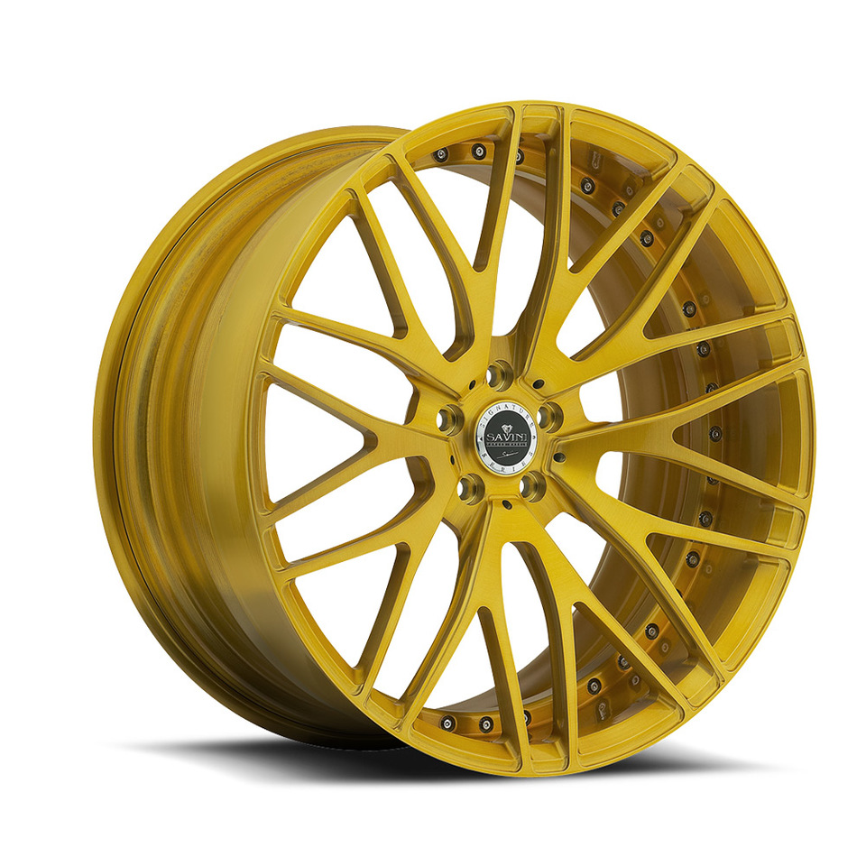 Savini Forged SV54d Gold Duoblock Wheels