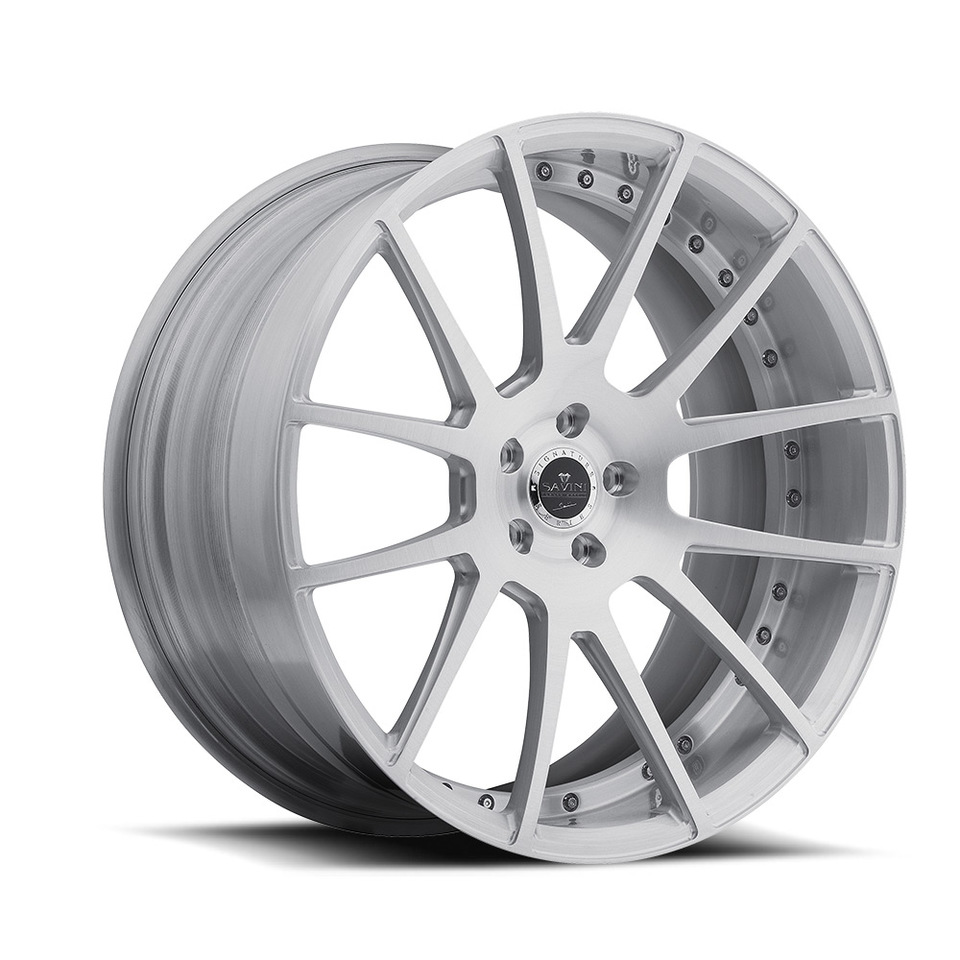 Savini Forged SV55d Brushed Duoblock Wheels