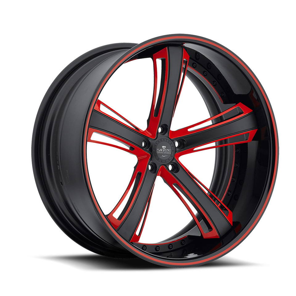 Savini Forged SV56c Red and Black XC Wheels