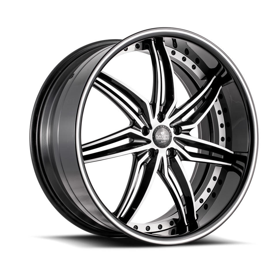 Savini Forged SV58 Wheels - Black and White Finish