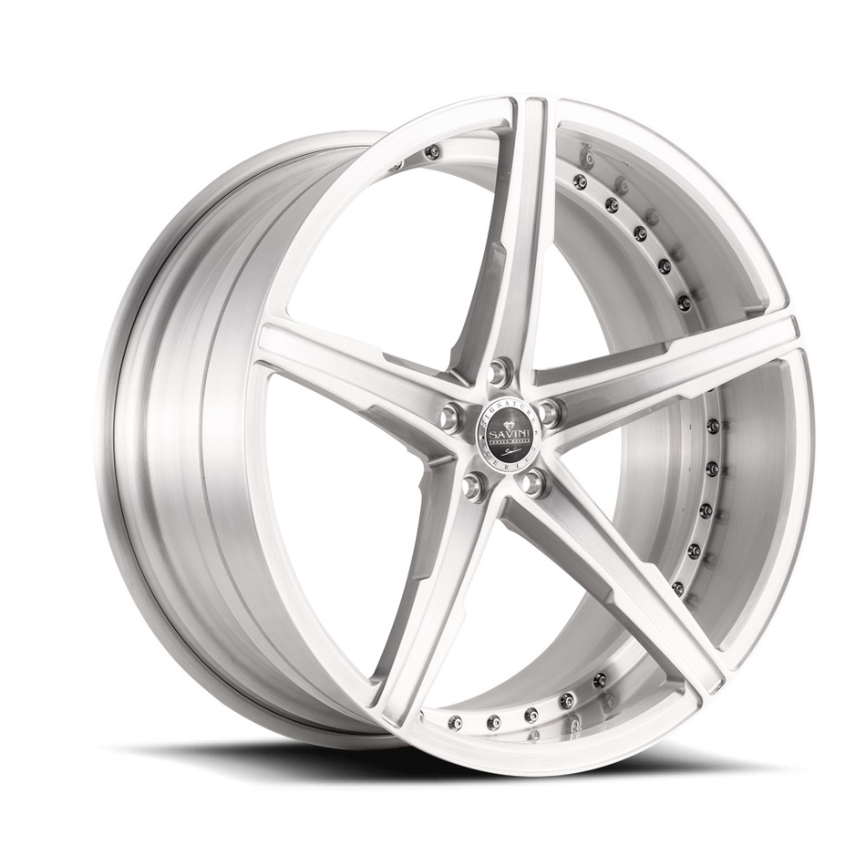 Savini Forged SV59 Wheels - Brushed Silver Finish
