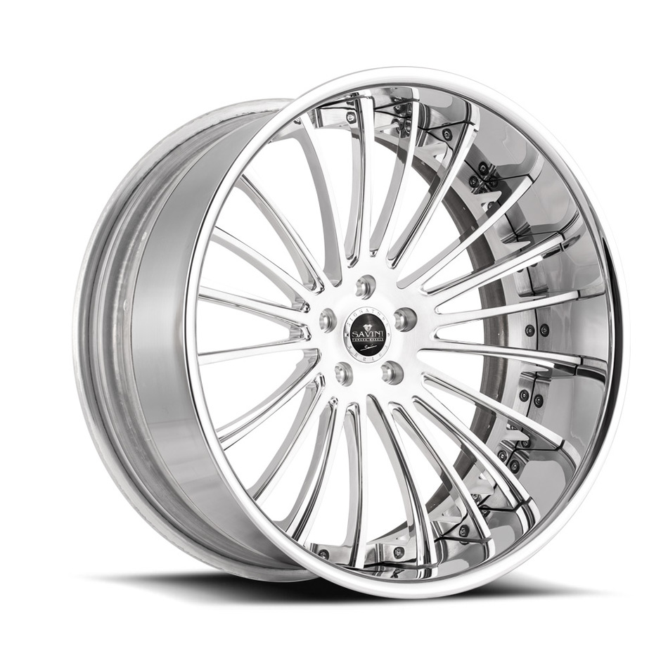 Savini Forged SV61 Wheels - Brushed and High Polished Custom Finish