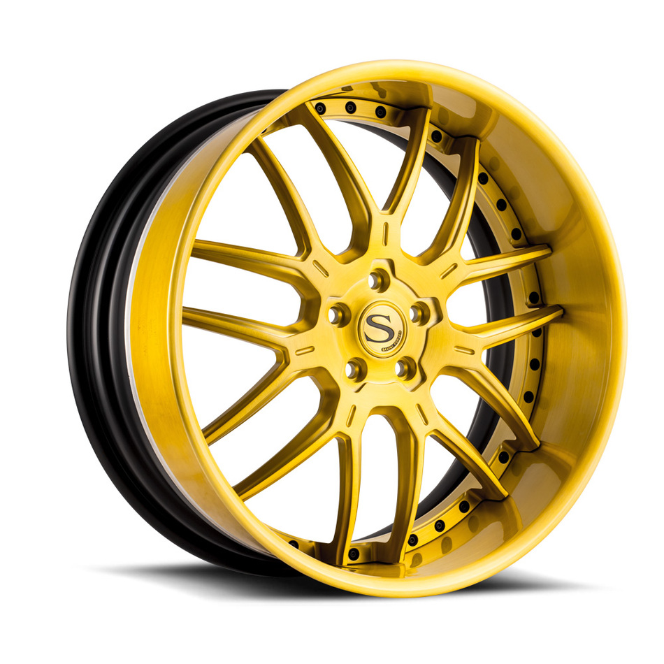 Savini Forged SV63 Brushed Gold Finish Wheels