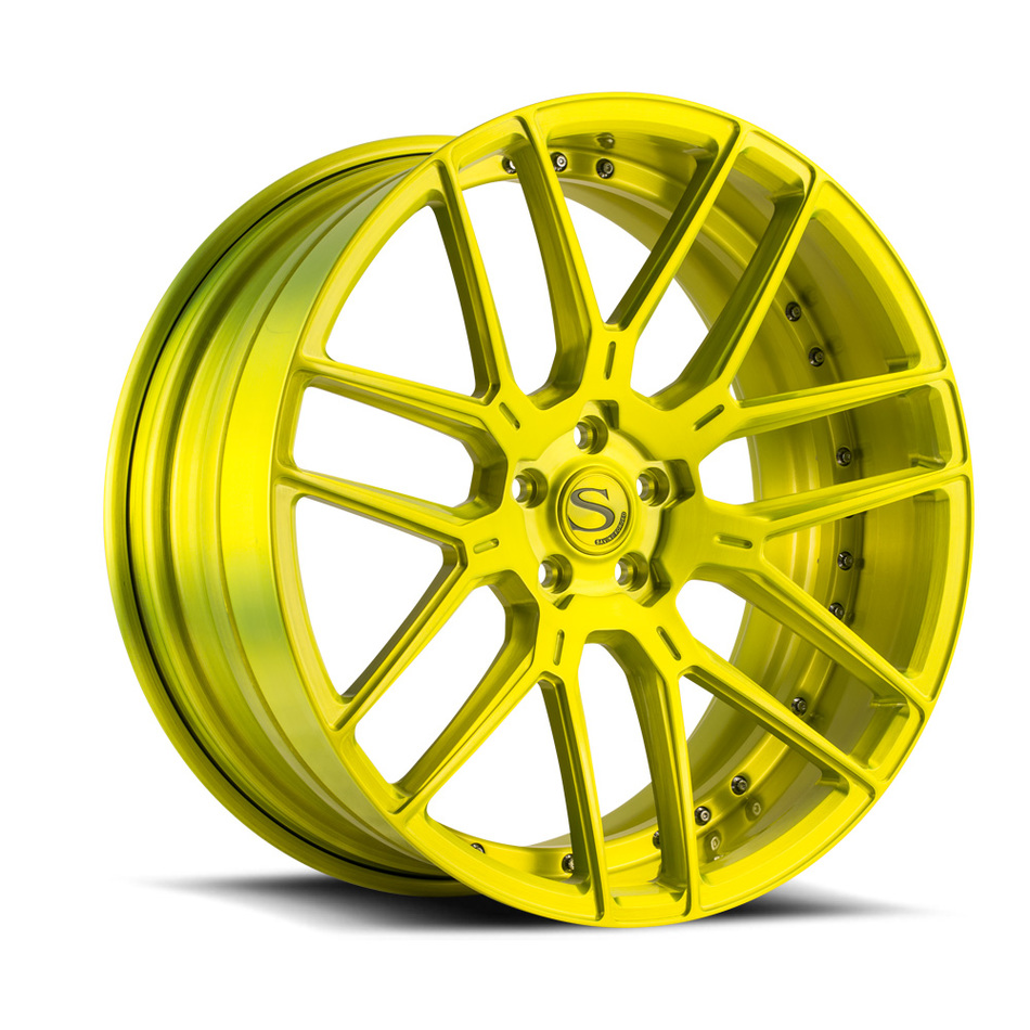 Savini Forged SV63 Brushed Shocker Yellow Finish Wheels