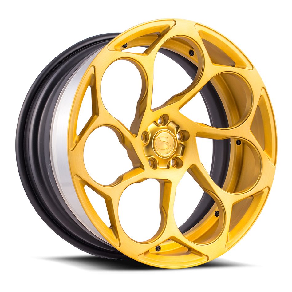 Savini Forged SV69 Wheels Brushed Gold Finish