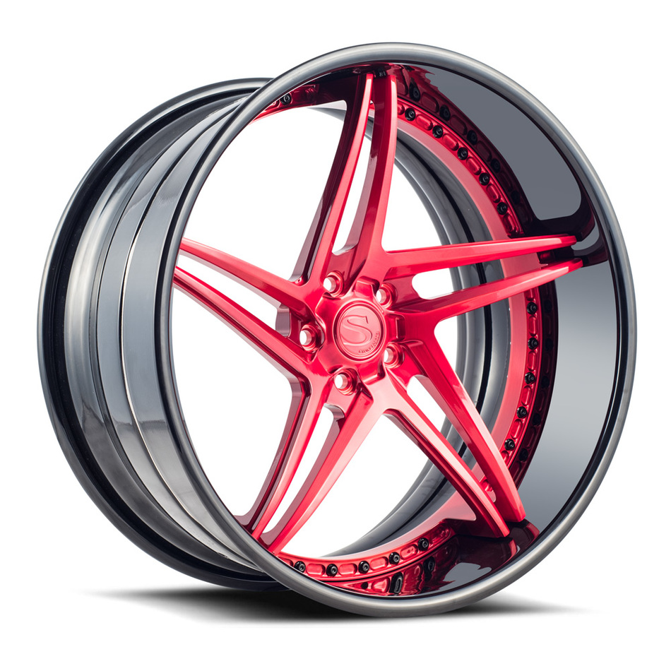 Savini Forged SV71 Wheels Candy Red Finish