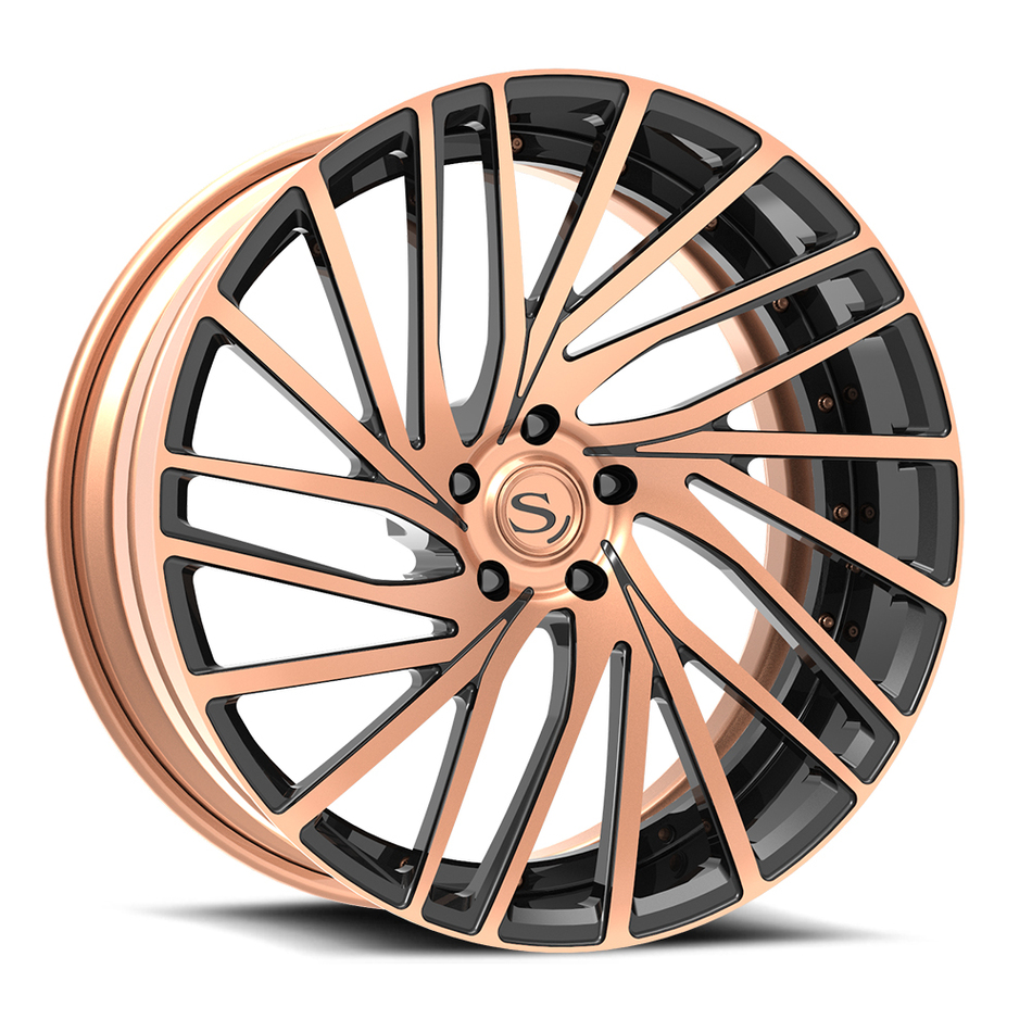 Savini Forged SV77 Wheels Rose Gold with Black Accents Finish