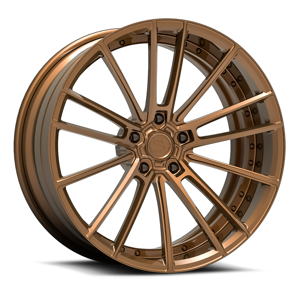 Savini Forged SV78 Wheels Brushed Bronze Custom Finish