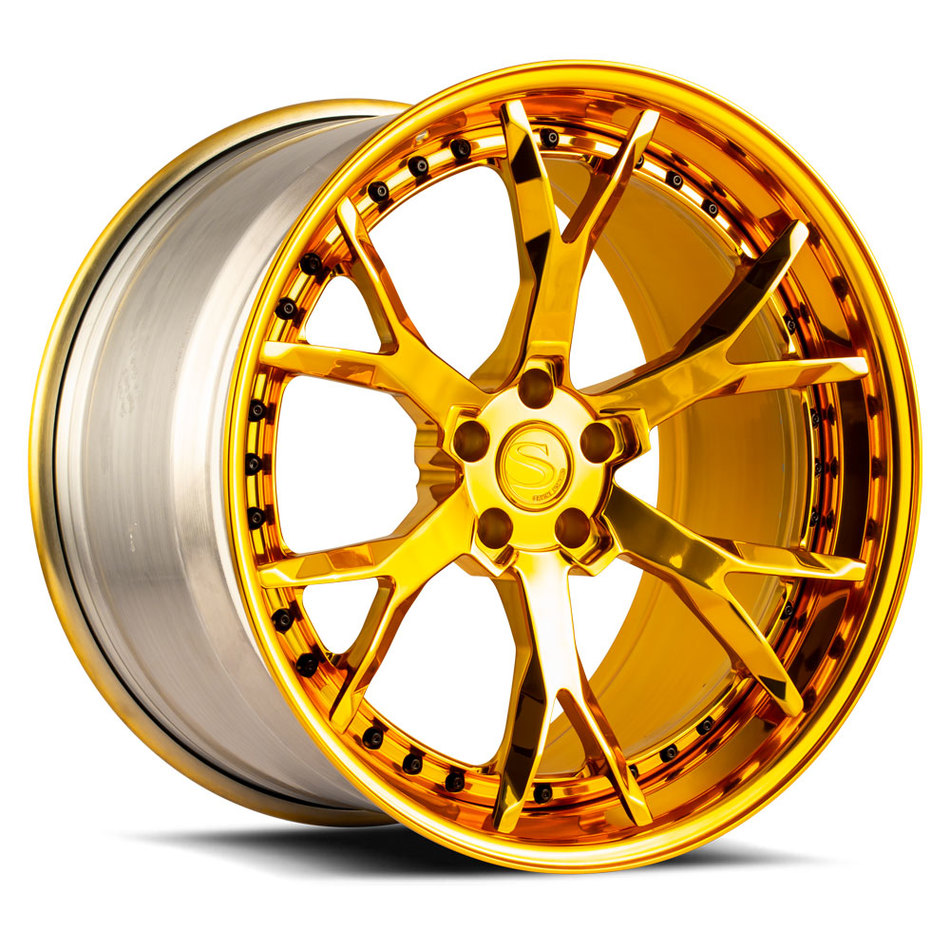 Savini Forged SV87 Wheels Custom Gold Finish