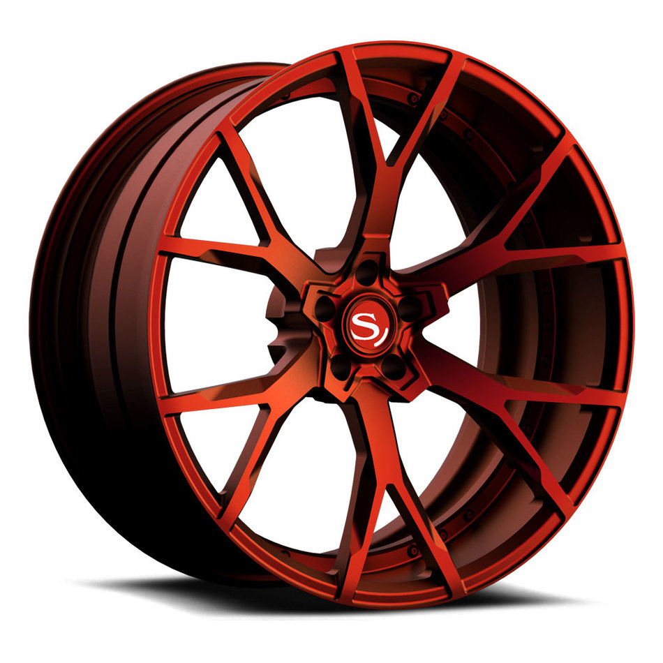 Savini Forged SV87 Wheels Custom Matte Red Finish