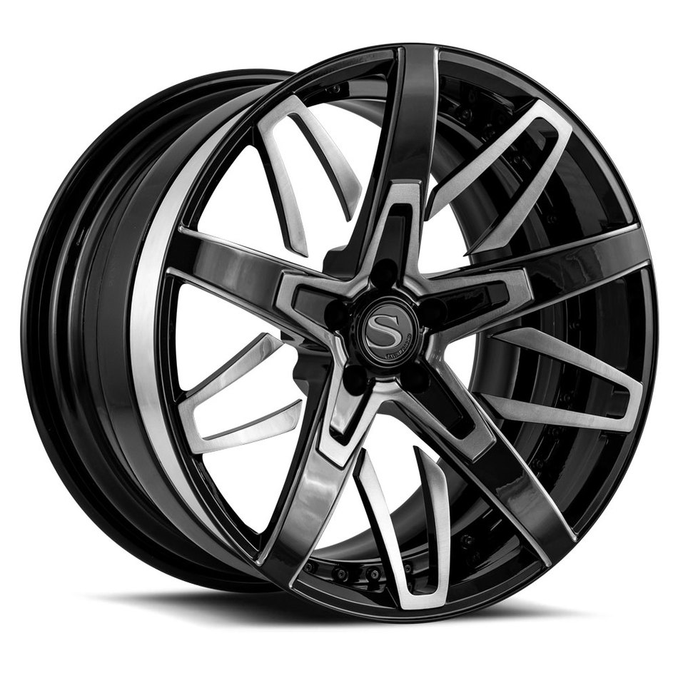 Savini Forged SV88 Wheels Custom Gloss Black with DDT Accents Finish