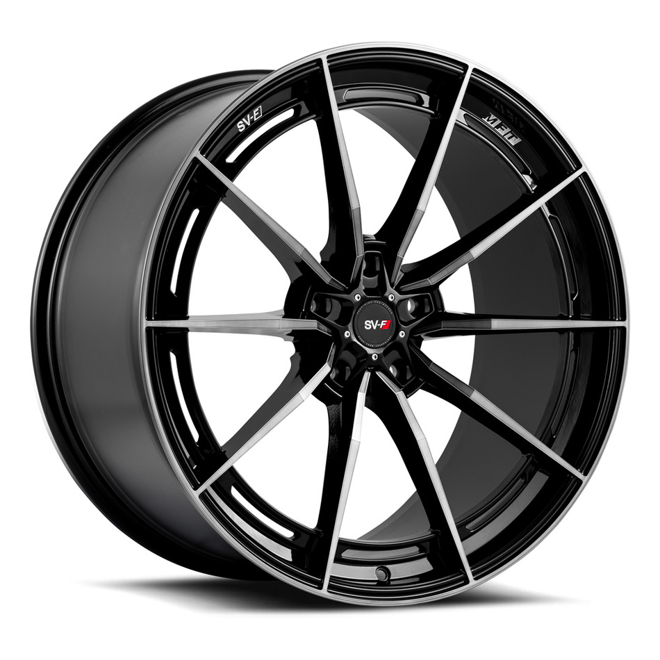 Savini SV-F 1 Wheels Gloss Black with Double Dark Tint Finish