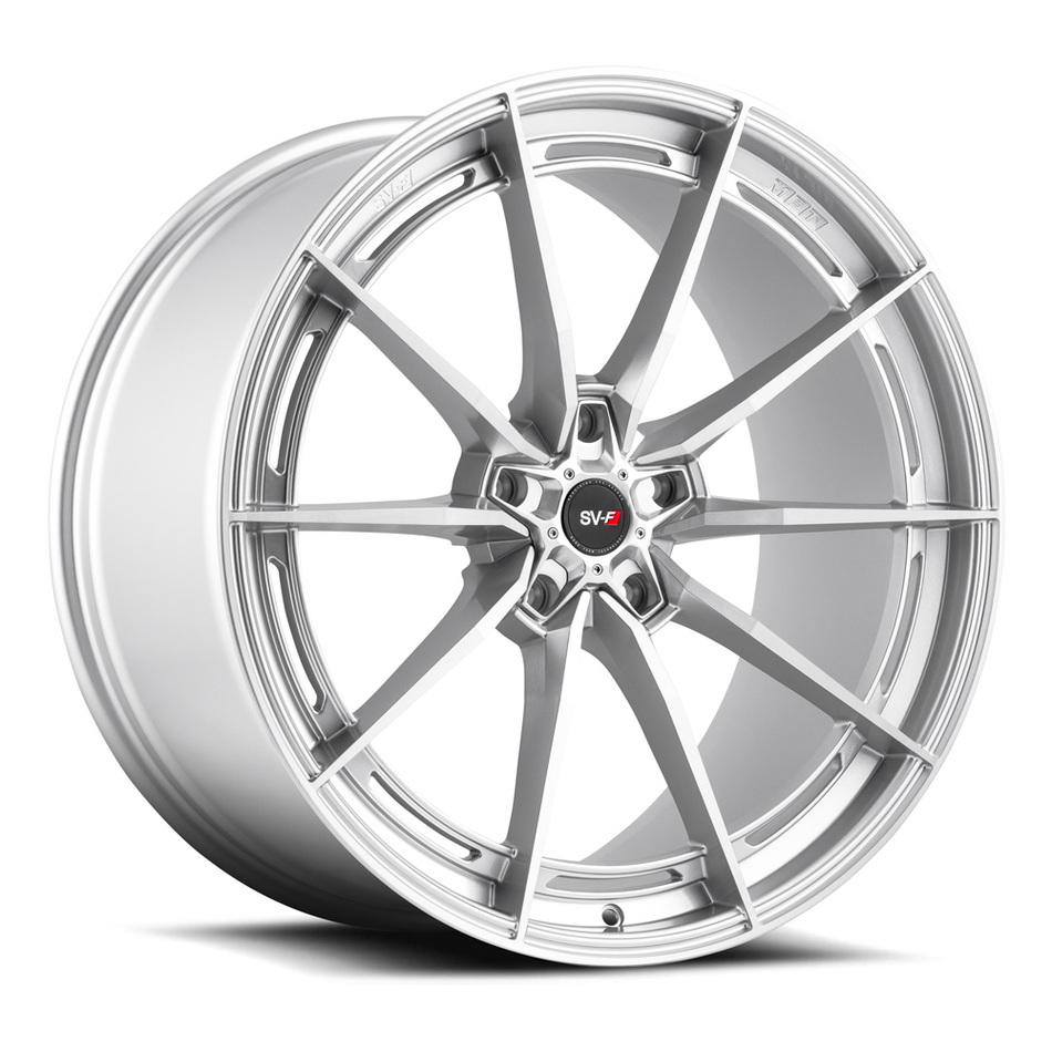 Savini SV-F 1 Wheels Brushed Silver Finish