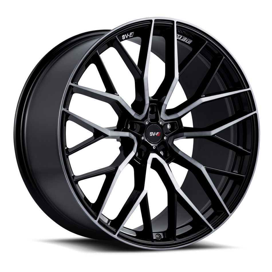 Savini SV-F 2 Wheels Gloss Black with Double Dark Tint Finish