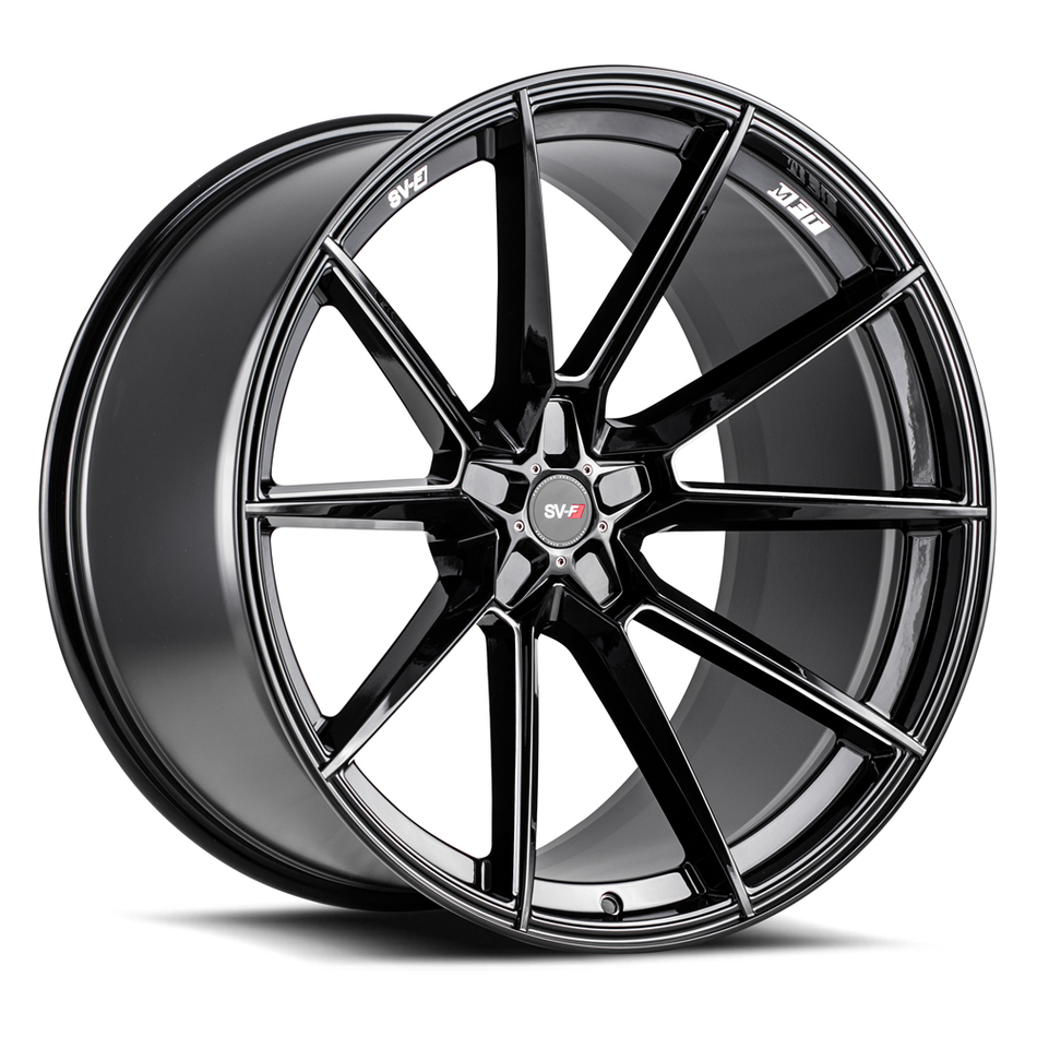 Savini SV-F 4 Wheels Gloss Black Milled Finish