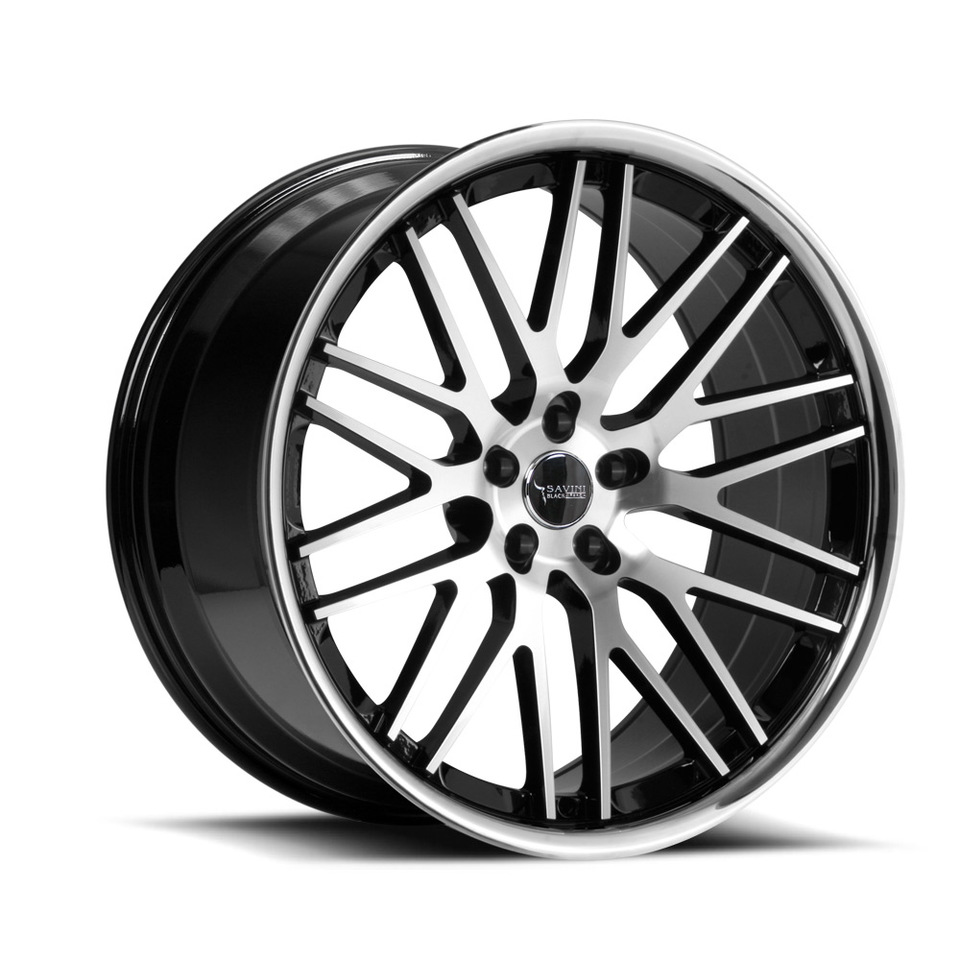 Savini Black di Forza BM4 Machined Black and Chrome Wheels