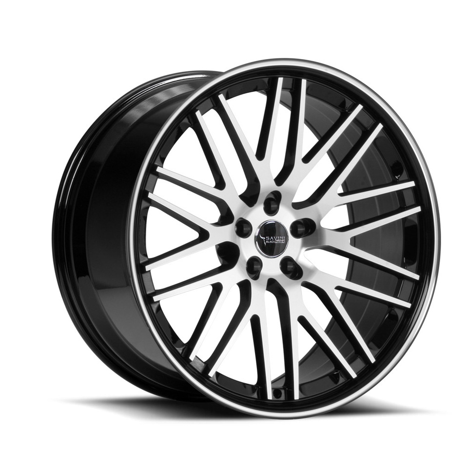 Savini Black di Forza BM4 Machined Black Wheels