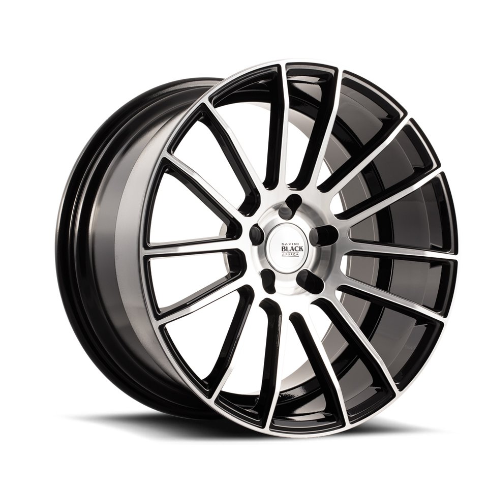 Savini Black di Forza BM9 Machined Black Wheels