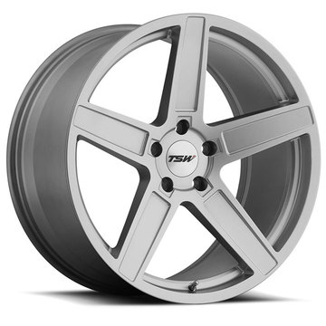 TSW Ascent Matte Titanium Silver Finish Wheels