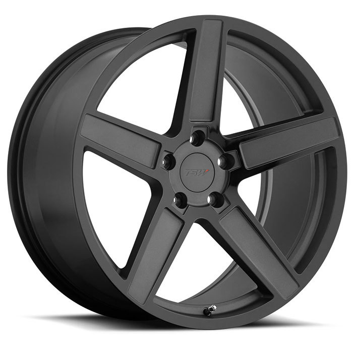 TSW Ascent Matte Gunmetal with Gloss Black Face Finish Wheels