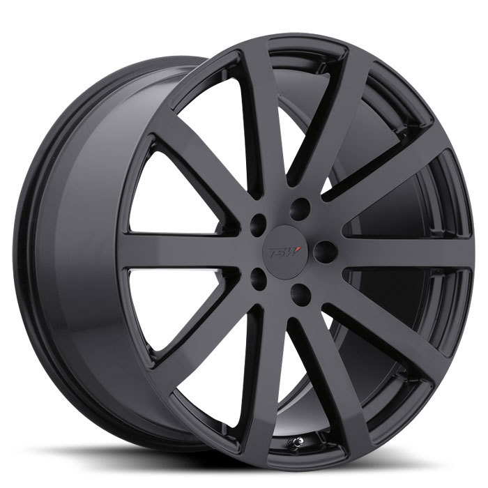 TSW Brooklands Matte Black Wheels - Standard