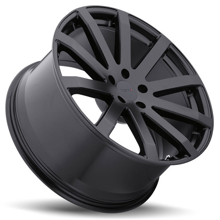 TSW Brooklands Matte Black Wheels - Lay