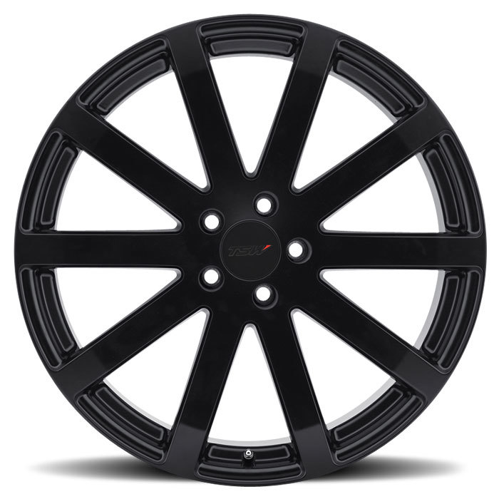 TSW Brooklands Matte Black Wheels - Face