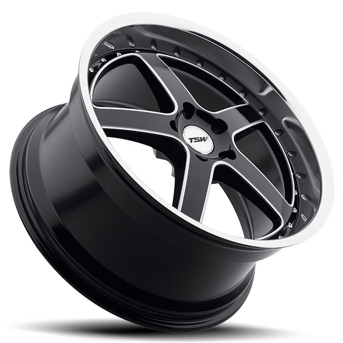TSW Carthage Bloss Black with Mirror Cut Face and Milled Spokes - Lay