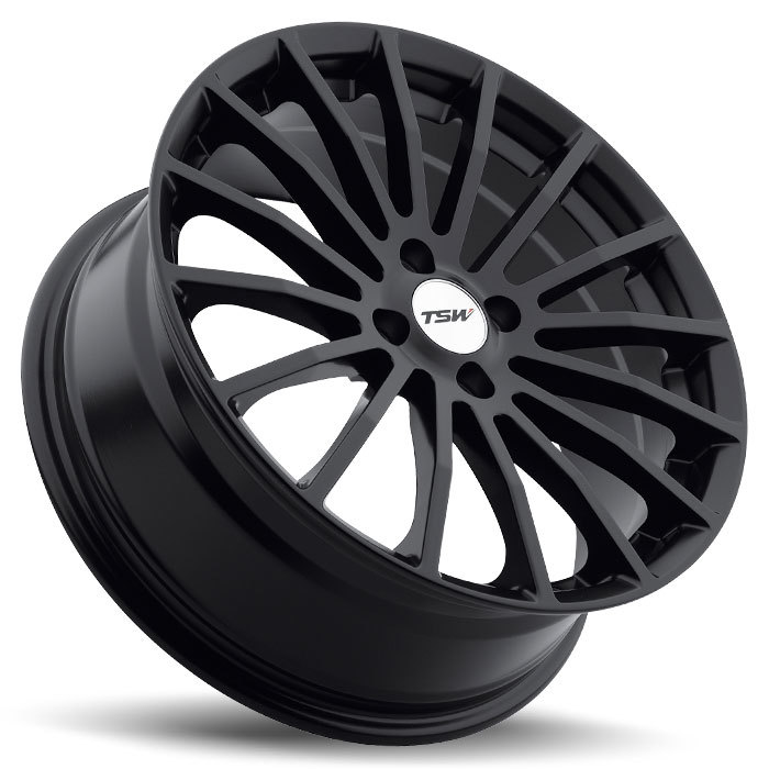 TSW Mallory 4 Matte Black Wheels