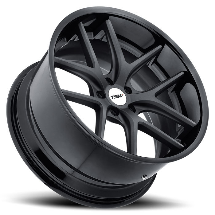 TSW Portier Wheels - Matte Gunmetal with Gloss Black Lip Finish