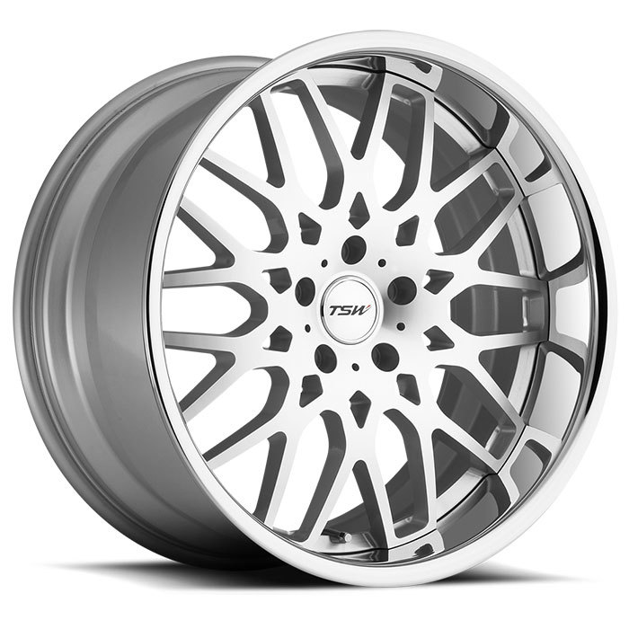 TSW Rascasse Wheels - Silver with Machine Face and Chrome Stainless Lip Finish