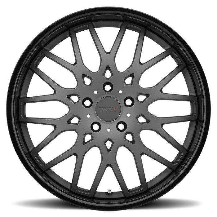TSW Rascasse Wheels - Matte Gunmetal with Gloss Black Lip Finish
