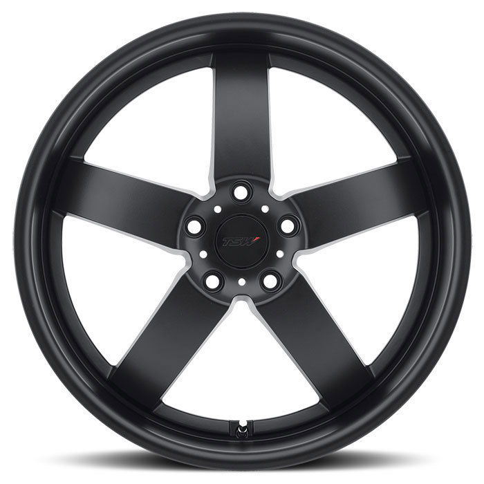 TSW Rockingham Matte Black Wheels - Face