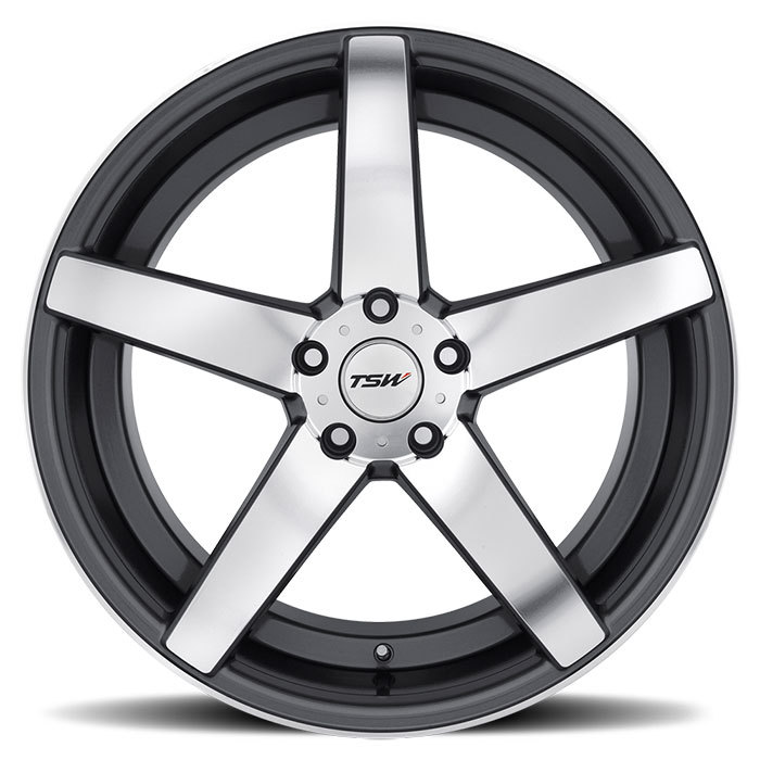 TSW Sochi Gunmetal with Mirror Cut Face Wheels - Face