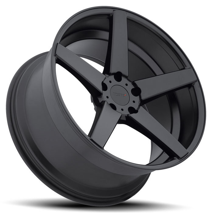 TSW Sochi Matte Black Wheels - Lay