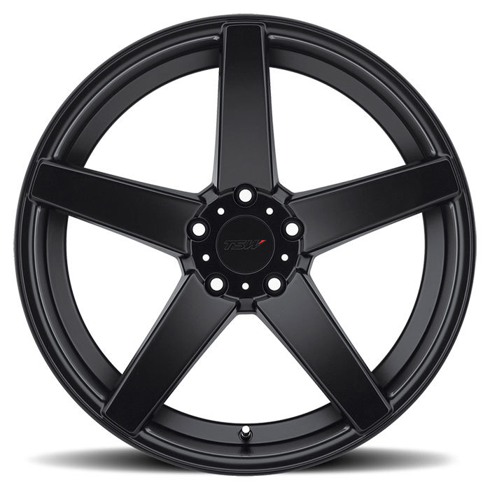 TSW Sochi Matte Black Wheels - Face