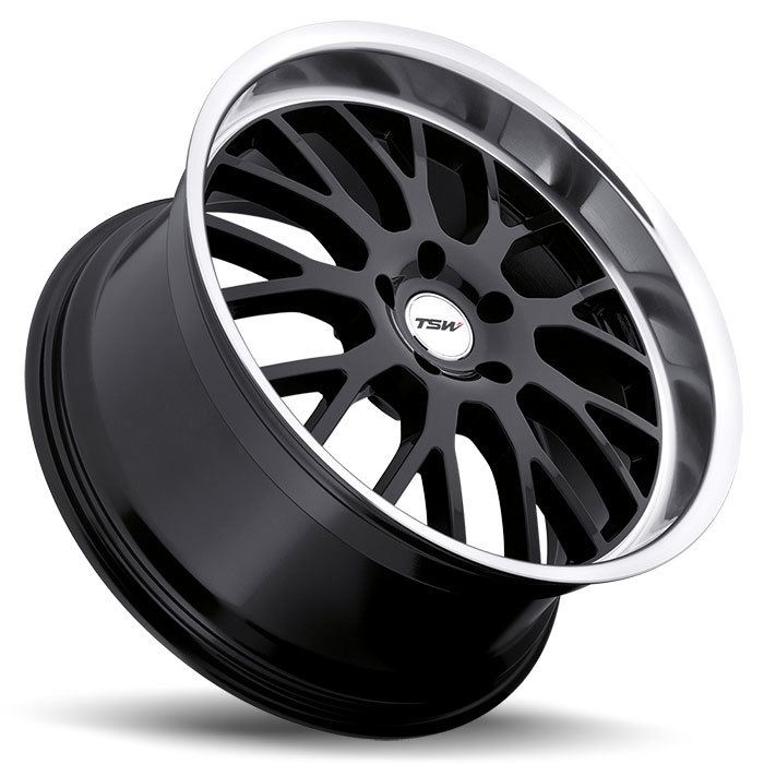 TSW Tremblant Gloss Black with Mirror Cut Lip Wheels - LAy