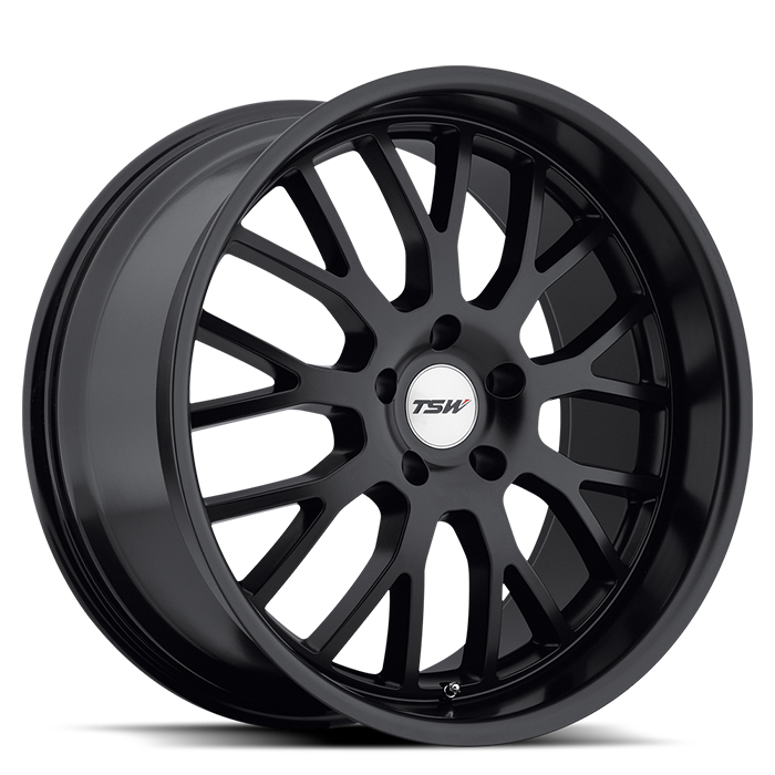 TSW Tremblant Matte Black Wheels - Standard
