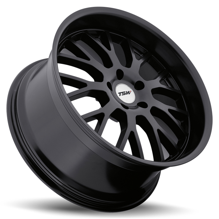 TSW Tremblant Matte Black Wheels - Lay