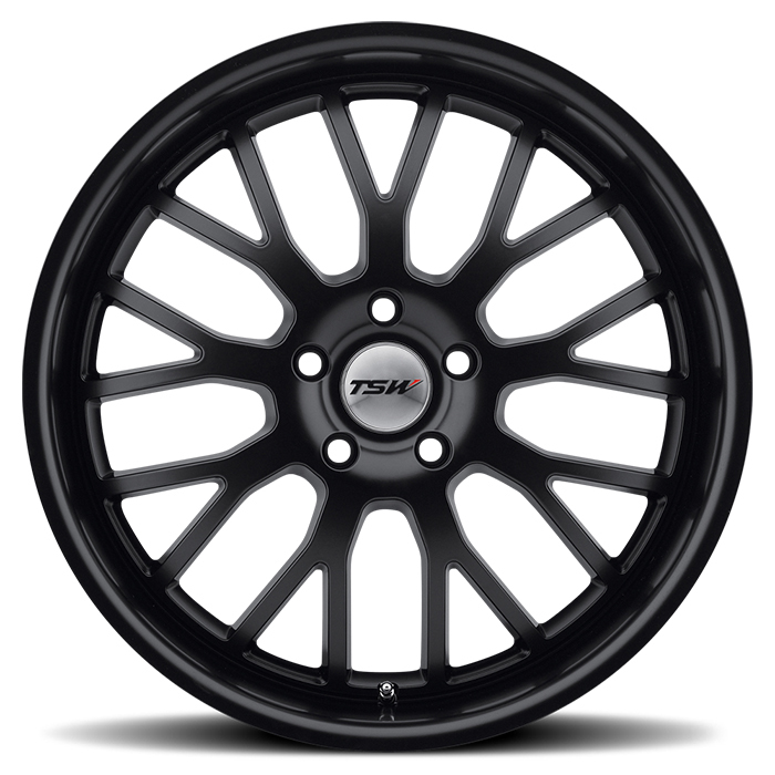 TSW Tremblant Matte Black Wheels - Face