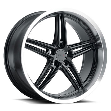 TSW Variante Gloss Black with Machined Lip Finish Wheels